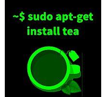Linux sudo apt-get install tea Photographic Print