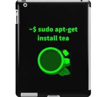 Linux sudo apt-get install tea iPad Case/Skin