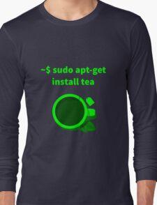 Linux sudo apt-get install tea Long Sleeve T-Shirt