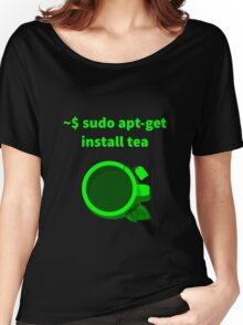 Linux sudo apt-get install tea Women's Relaxed Fit T-Shirt