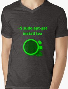 Linux sudo apt-get install tea Mens V-Neck T-Shirt