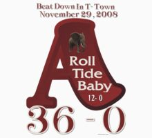 ROLL TIDE BEATS AUBURN TSHIRT 2008 by bamagirl38