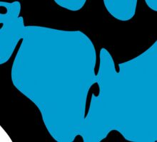 obama : blue blooded fist Sticker
