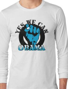 obama : blue blooded fist Long Sleeve T-Shirt
