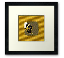 House Pillow: just and loyal Framed Print