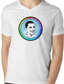 obama : blue rays Mens V-Neck T-Shirt
