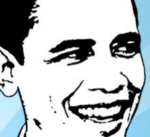 obama : blue rays Sticker