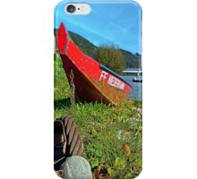 Traditional firefighter boat | landscape photography iPhone Case/Skin