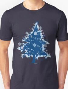 Christmas T-shirt - Blue Christmas Tree T-Shirt