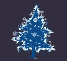 Christmas T-shirt - Blue Christmas Tree Unisex T-Shirt