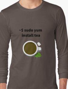 Linux sudo yum install tea Long Sleeve T-Shirt
