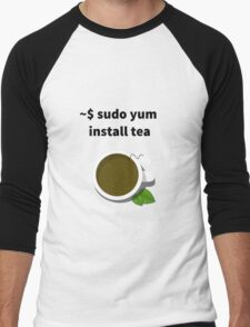Linux sudo yum install tea Men's Baseball ¾ T-Shirt