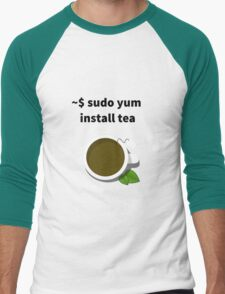 Linux sudo yum install tea Men's Baseball ¾ T-Shirt