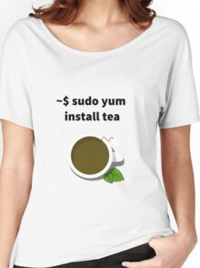 Linux sudo yum install tea Women's Relaxed Fit T-Shirt