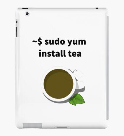 Linux sudo yum install tea iPad Case/Skin