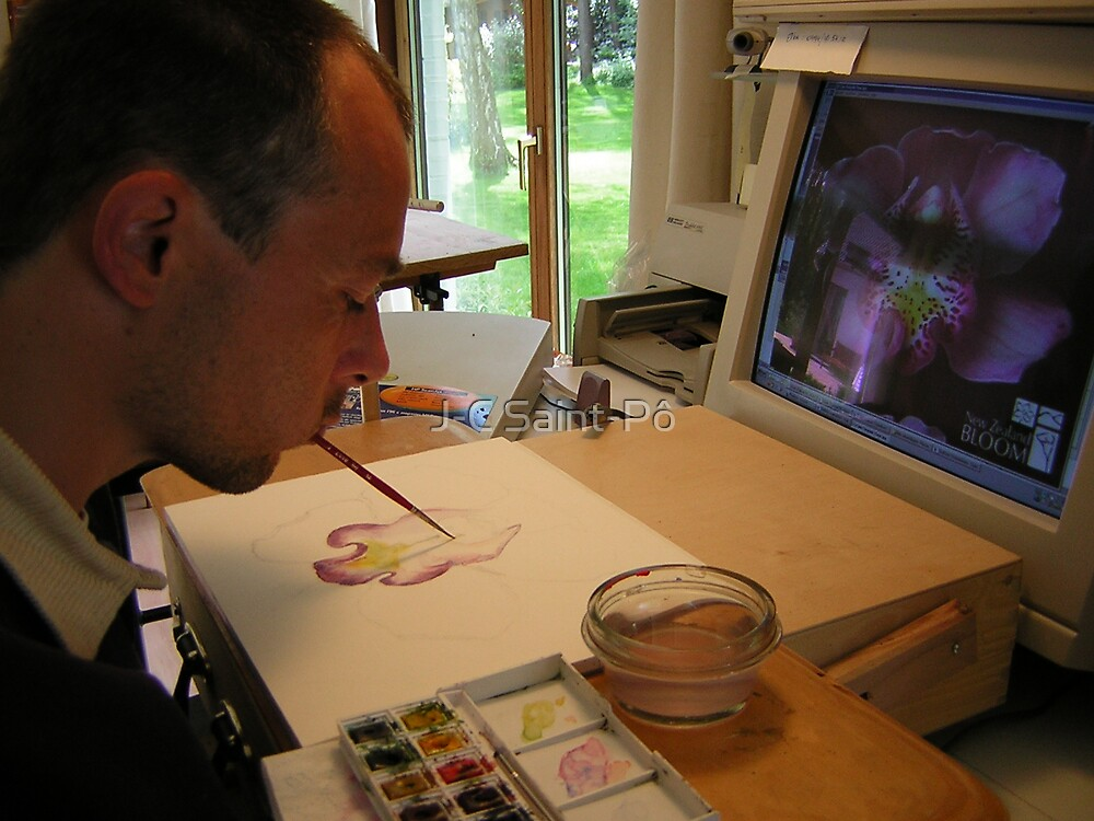 "The ""artist"" at work by J-C Saint-Pô"