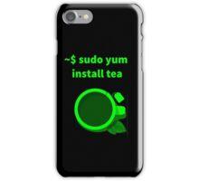 Linux sudo yum install tea iPhone Case/Skin