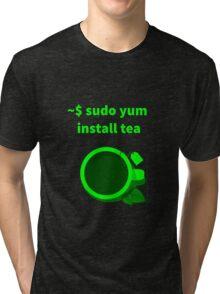 Linux sudo yum install tea Tri-blend T-Shirt