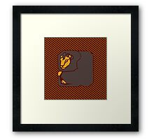 House Pillow: brave at heart Framed Print