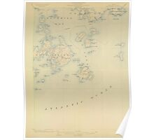 Maine USGS Historical Map Swan Island 306805 1904 62500 Poster