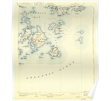 Maine USGS Historical Map Swan Island 460945 1904 62500 Poster