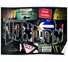 Welcome To London - Sherlock Version #3 Poster