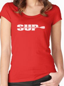 Stand Up Paddle Women's Fitted Scoop T-Shirt