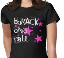 barack and roll Womens Fitted T-Shirt