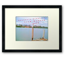 Season's greetings from Mannum 2008. Framed Print