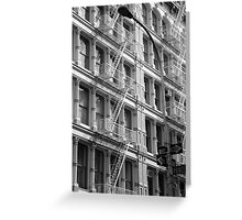 Soho Apartments New York City Greeting Card