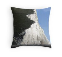 Start of the Seven Sisters at Cuckmere Haven Throw Pillow