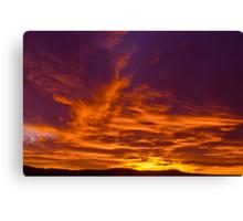A December Morning Sky Canvas Print