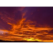 A December Morning Sky Photographic Print