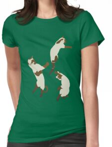 Three Playful Siamese Womens Fitted T-Shirt