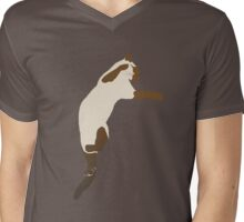 Leaping Siamese Cat Mens V-Neck T-Shirt