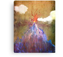 Abstract volcano eruption Canvas Print