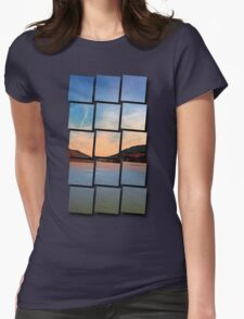 Danube river valley | waterscape photography Womens Fitted T-Shirt