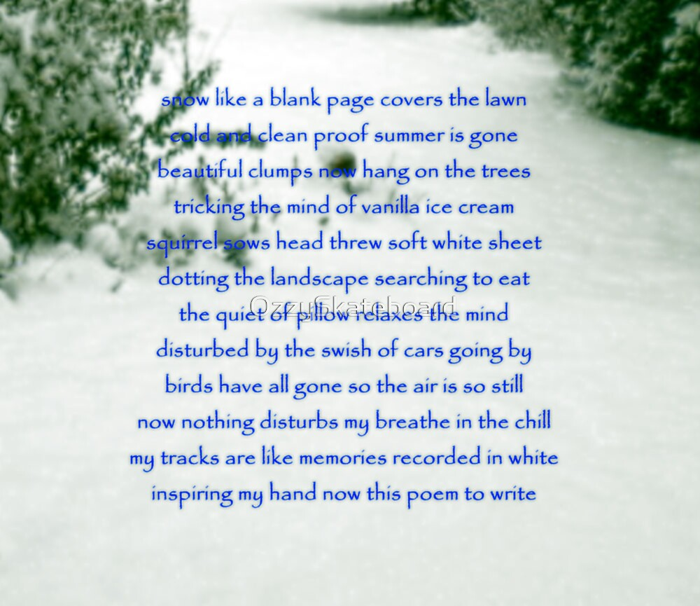 Snow by OzzySkateboard
