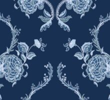 Elegance Seamless pattern with flowers ornament Sticker