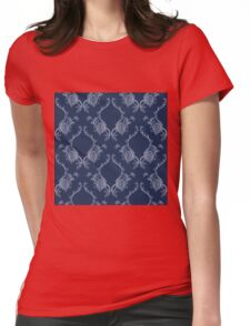 Elegance Seamless pattern with flowers ornament Womens Fitted T-Shirt