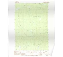 Maine USGS Historical Map Telos Brook 103133 1988 24000 Poster