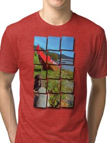 Traditional firefighter boat | landscape photography Tri-blend T-Shirt