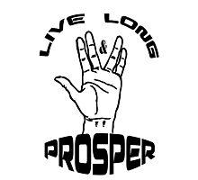 Live Long and Prosper (Black) Photographic Print
