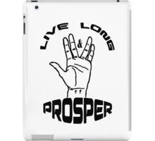 Live Long and Prosper (Black) iPad Case/Skin