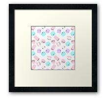 Marshmallow love Framed Print