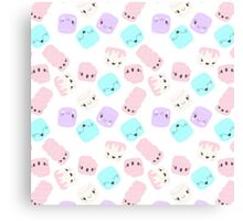 Marshmallow love Canvas Print