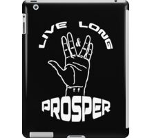 Live Long and Prosper (White) iPad Case/Skin