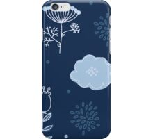 Elegance Seamless pattern with flowers iPhone Case/Skin