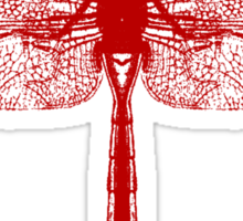 Red Dragonfly Sticker