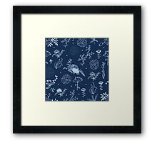 Elegance Seamless pattern with flowers Framed Print